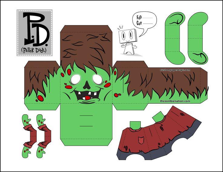 ... It's on Random: Morbid Zombie Mondays - Zombie Paper Crafts