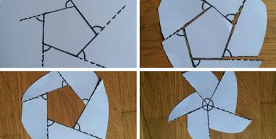 Nice! a practical demonstration of the exterior angles of a polygon summing to 360o.