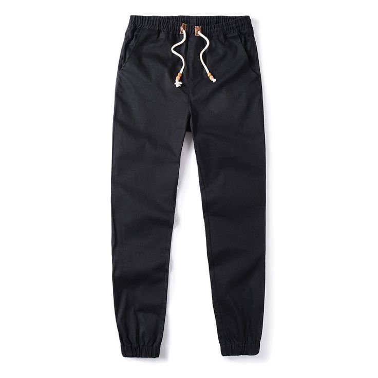 Plus Size Khaki Joggers Mens Khaki Pants Jogger Pants Men's Cuffed Joggers Pants Cotton Long Trousers European New Black Jogger