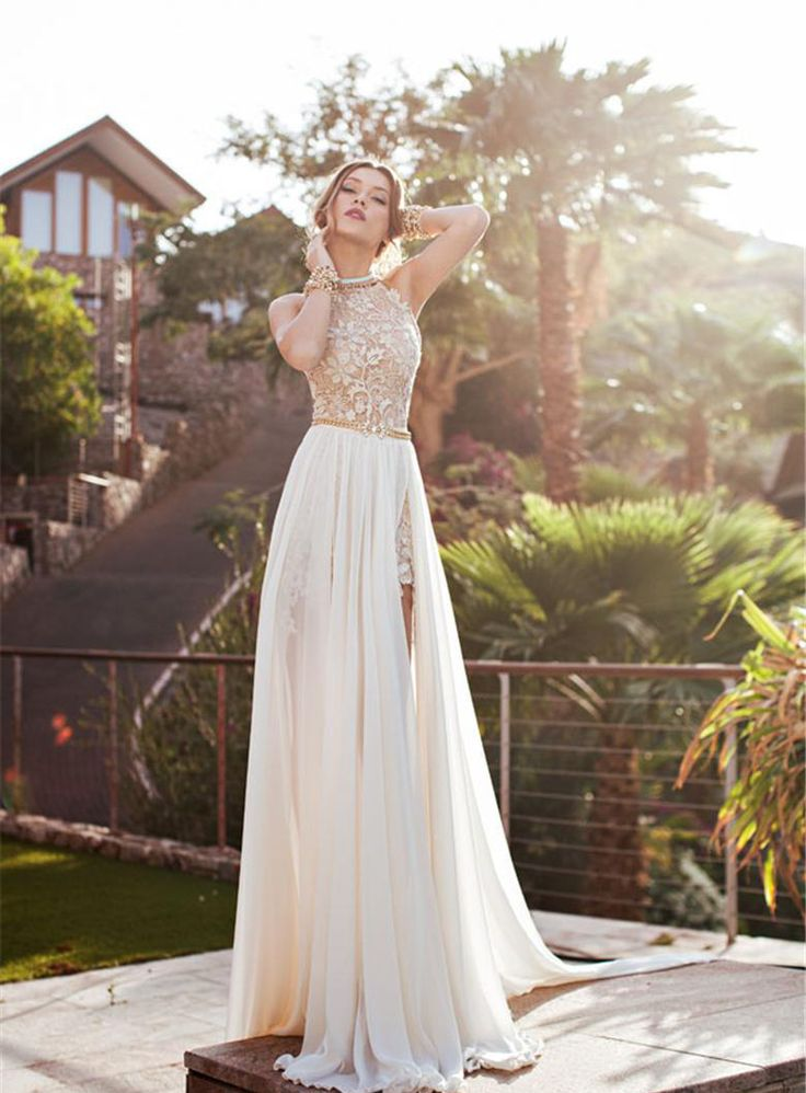 Charming A-Line/Princess Strapless Jewel Wedding Dress 10989426 - Beach Wedding Dresses - auroraldresses.Com