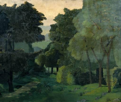 """John Nash, """"A Path through Trees,"""" circa 1915."""