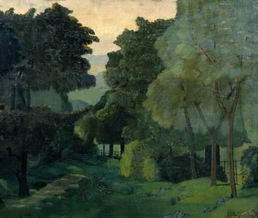 "John Nash, ""A Path through Trees,"" circa 1915.Art Nananapgirl, Landscapes Art, Paths, Oil On Canvas, About 1915, C 1915, John Nash, Trees, Landscapes Painting"