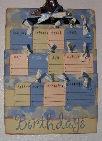 love it. Cute birthday calendar idea