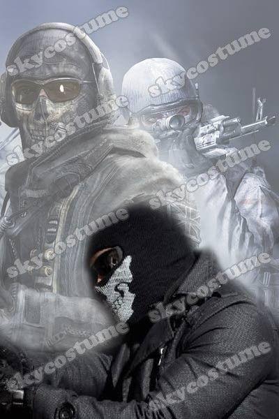 Call Of Duty Modern Warfare 2 Ghost Skull Face Mask - Skycostume