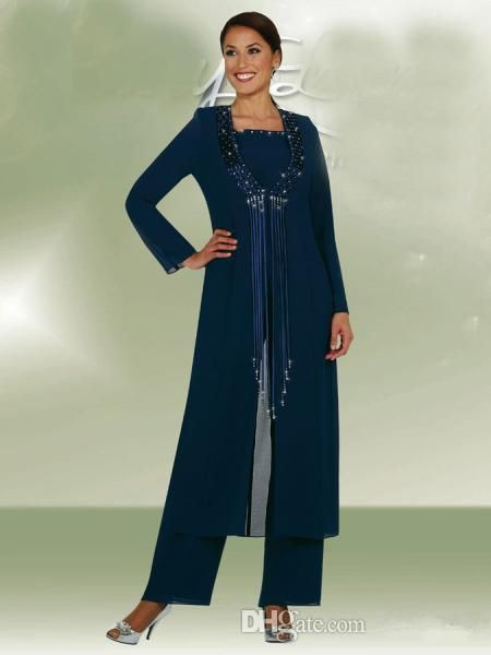 Joan Joan Rivers Hot Selling Long Sleeve Prom Dresses Jewel 2015 Mother Pant Suit Jacket Plus Size Chiffon Dresses Mother Of The Bride Dress Custom Made New Mother Of The Bride Suit From Jennybridal, $92.65| Dhgate.Com