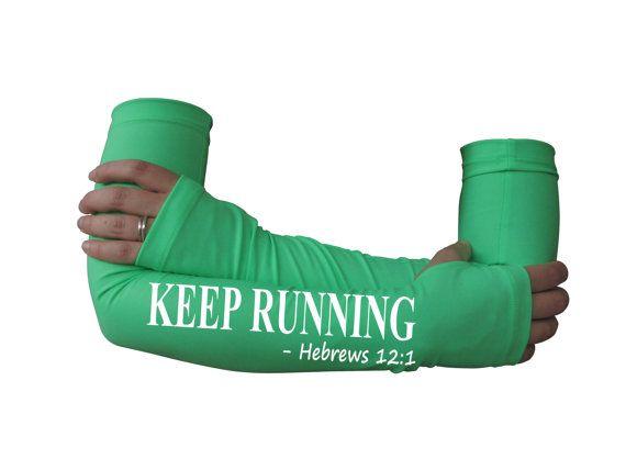 Arm warmer for running - Keep running ...  -  arm warmer, running gift, running gear, gift for runners, running sleeve