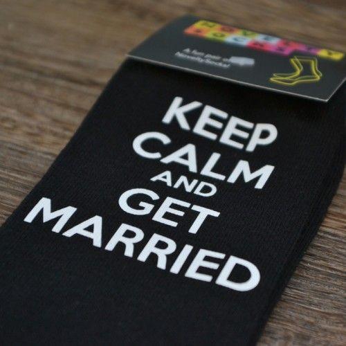 Sokken Keep Calm & Get Married