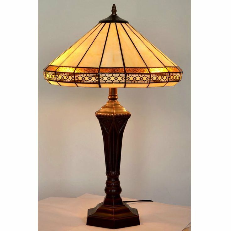 "Claudine Traditional Art Deco Tiffany Style Stained Glass Table Lamp 16"" Shade: Amazon.co.uk: Lighting"