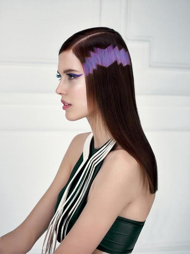 Pixelated Hair #revlon #pixelhair #hairstyle #trend #fashion #xpresionpixel #design #lifestyle http://www.brit.co/pixel-hair/