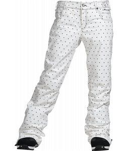 Look super cute in these ultra rad pants, the Burton TWC Flared Snowboard Pants. Made with dryride ultrashell dual layered fabric, mesh lined lining, handwarmer pockets and much more, its no wonder these slim fit pants are so popular this season. Hit the slopes in great style and be sure to stay comfortable all throughout the day. This cute polka dot design will surely add a touch of femininity to your look. So have fun with it and have a blast out in the snow.