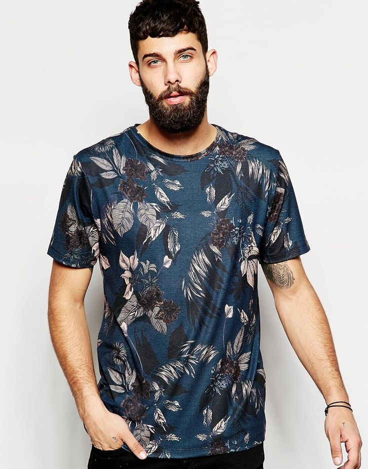 River Island Floral Print Crew Neck T-Shirt