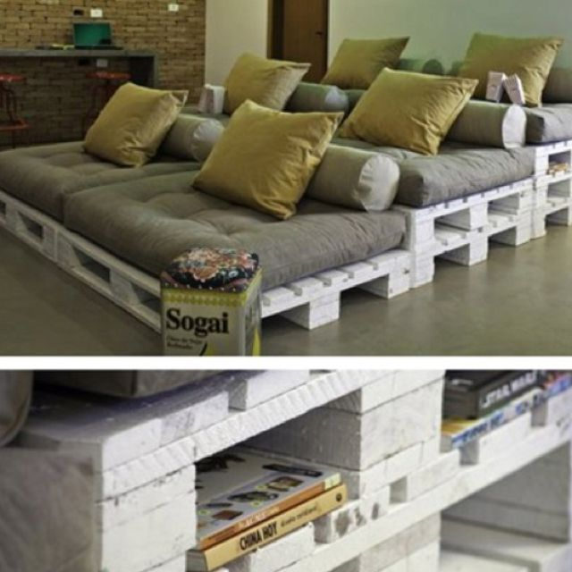 Wooden pallet cinema seating, This is what were putting in Julia & Laynees theatre themed bedroom!