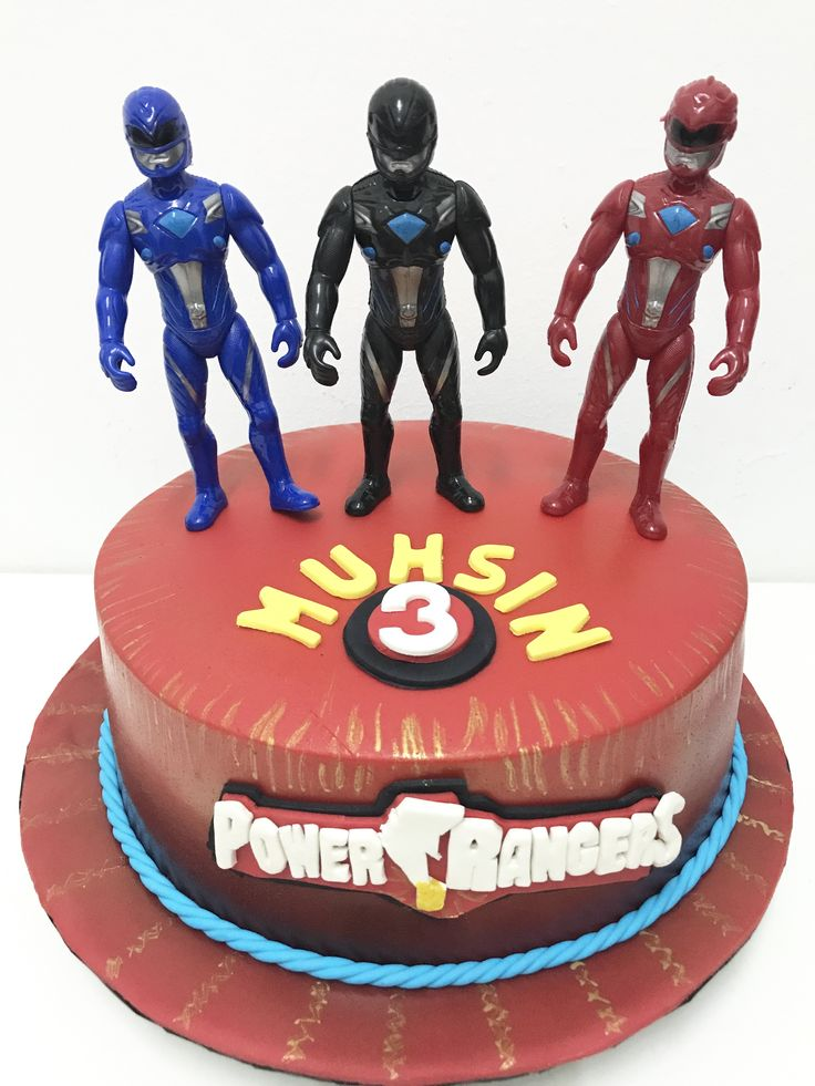 Power Rangers Theme Cake by #lemontruckitchen