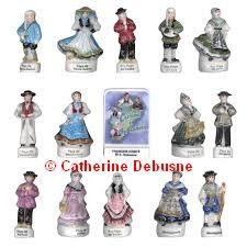 Collection de fèves peintes à la main; Région Franche-Comté 20  la série ( prix Usine)