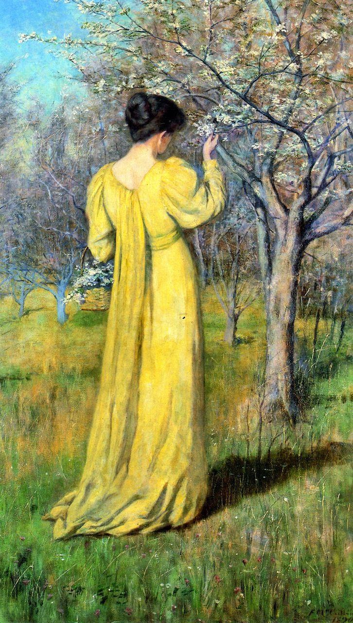 Spring (also known as Mrs. Mccubbin Picking Blossom)  Frederick McCubbin