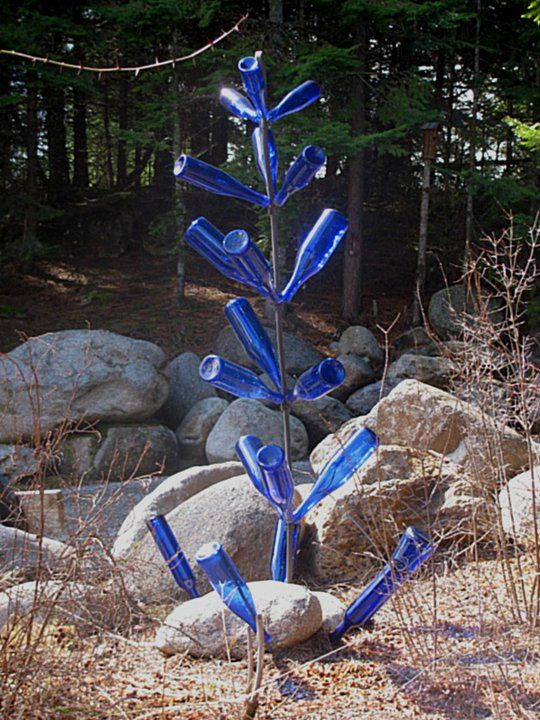 Cobalt Bottle Tree Which Were Originally Made To Sit