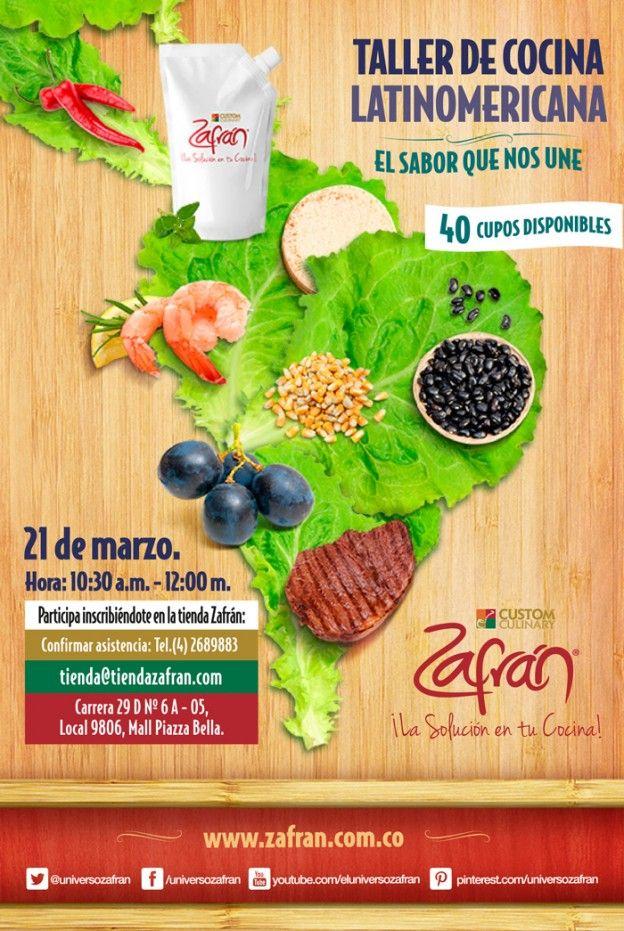 Taller de cocina Zafrán®, Cocina Latinoamericana. Descarga el recetario en el siguiente enlace: http://www.zafran.com.co/taller-de-cocina-latinoamericana/
