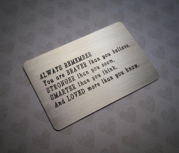 Nickel Wallet Card Insert Bride To Groom Wedding Day Present