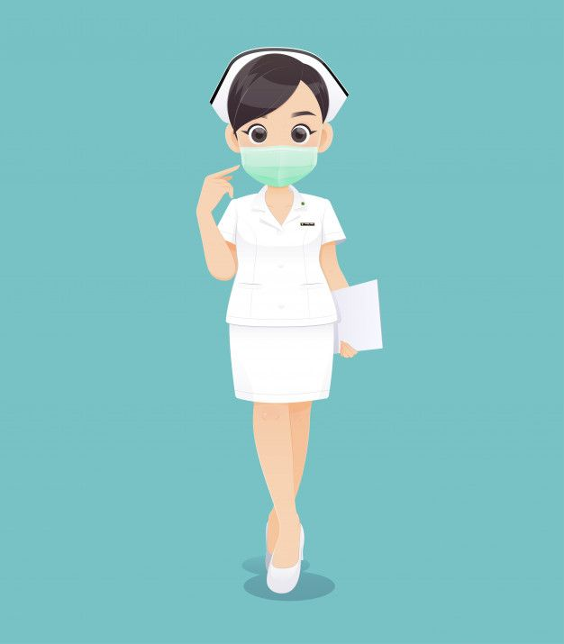 Nursing Wears A Protective Mask Cartoon Premium Vector Freepik Vector People Design Woman Medical Character Design Nurse Cartoon Cartoon