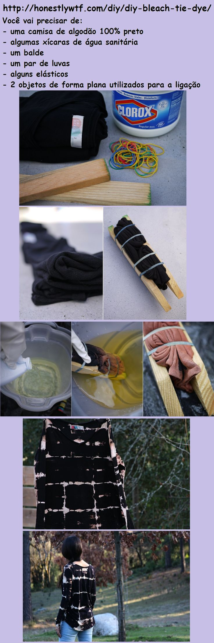 Encontrado em : http://honestlywtf.com/diy/diy-bleach-tie-dye/. In the web site it is English