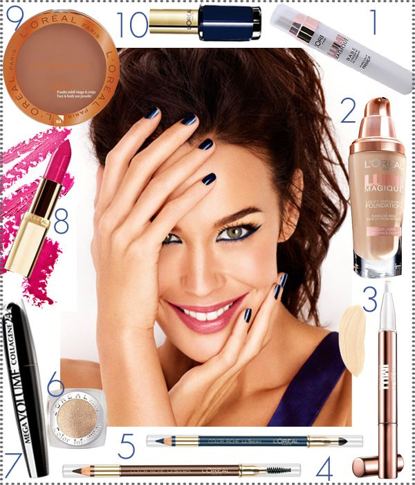 Try It Tonight: Megan Gale shows us how to rock cobalt makeup