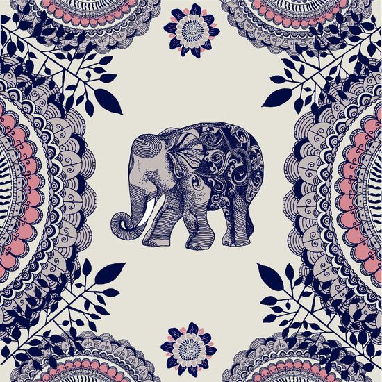 Elephant Pink canvas print by Rskinner1122 #artwork More