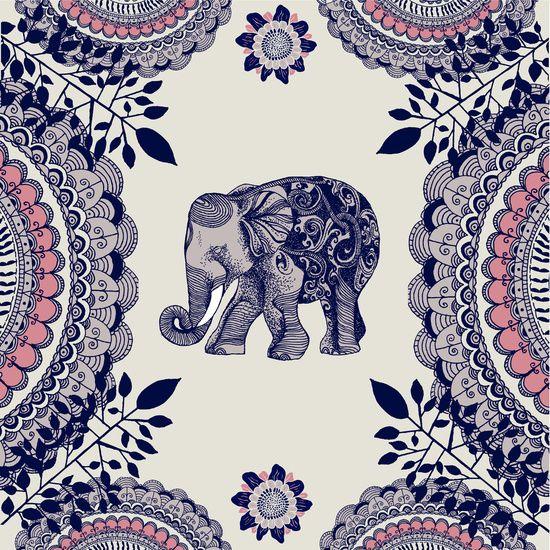 Elephant Pink canvas print by Rskinner1122 #artwork More