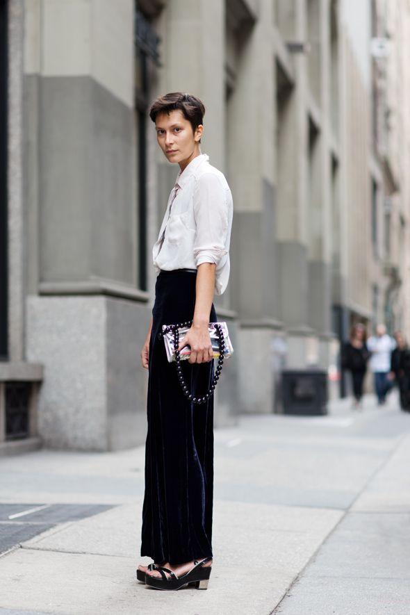 Somewhere in Hong KongWide Legs Pants, Fashion, Shorts Hair, Street Style, White Shirts, Long Skirts, New York, Velvet Skirts, Maxis Skirts