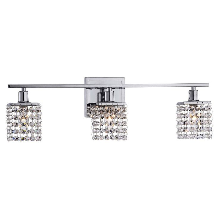 3 Light Chrome/ Crystal Square Shade Wall Sconce   Overstock™ Shopping   Top