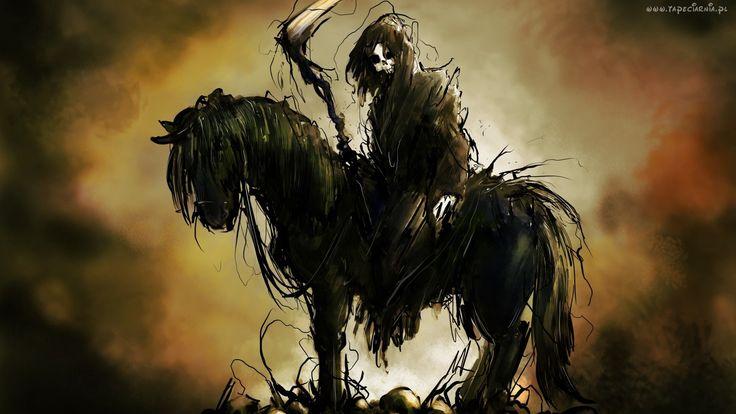 Śmierć, Koń, Kosa