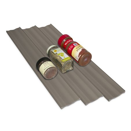 SpiceLiner is an affordable solution that allows you to build a customised spice drawer. Lay non-slip SpiceLiner flat in a drawer and place spice bottles on top for easy viewing & accessibility.
