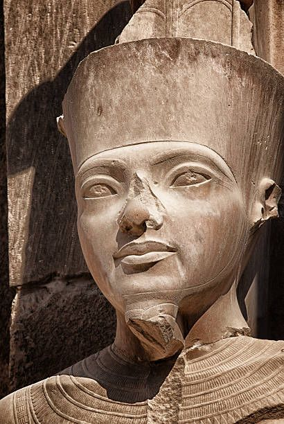 Pharaoh Statue at Karnak, you can see the racism by Europeans or Caucasians when Black characteristics of Kemetic monuments are destroyed as an attempt to hide the subject's TRUE ethnicity. Smh...