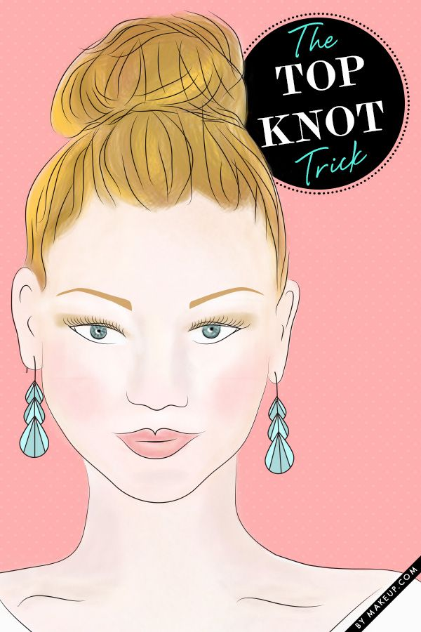 how to style the perfect top knot // love this trick!