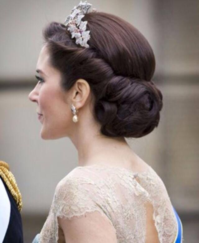 Popular Wedding Hairstyles With Crown: Crownprincess Mary