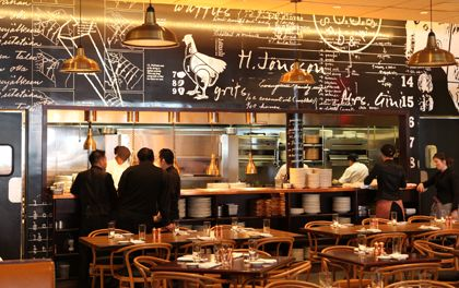 Red-Rooster in Harlem, NY. Marcus Samuelsson's celebration of the roots of American cuisine.