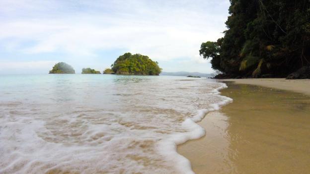 Isla Rancheria, an uninhabited island in Coiba, Panama