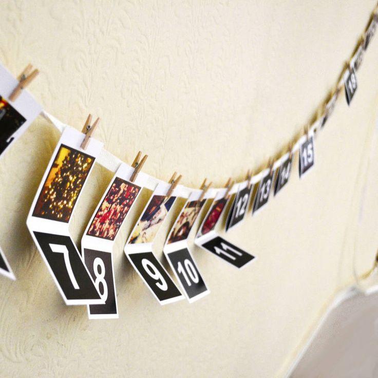 personalised photo christmas advent calendar by instajunction | notonthehighstreet.com