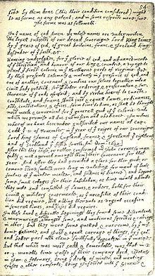 Doc. 7 - Comparación // Contrato del Mayflower //  En el nombre de Dios, Amén. Nosotros, cuyos nombres están escritos debajo, los sujetos leales de nuestro Temible Soberano Señor Rey Jaime, p...