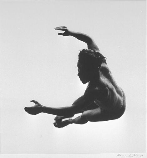 Aaron SiskindAmerican, 1903-1991 Terrors and Pleasures of Levitation, 1954, printed c. 1972 Gelatin silver print 25.1 x 24.2cm George Eastman House Rochester, New York, USA