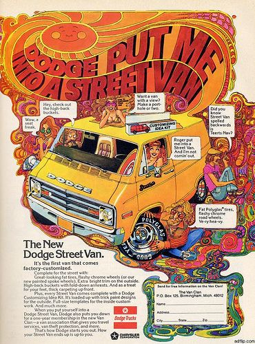 Dodge Street Van...I remember seeing this ad when it first came out!