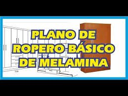 Resultado de imagen para muebles de melamina y planos gratis