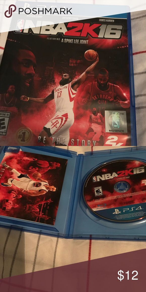 NBA 2k16 for PlayStation 4 I am selling nba 2k16 which I have had since 2016. I didn't play it very much because I got the newest version of the game so the game is in good condition. Other