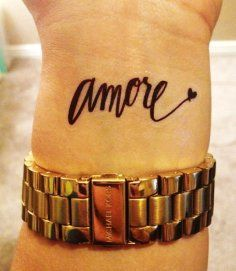 Short Love Quote Tattoos for Girls – Long Black Short Love… – Tattoo : Black words tattoos for girl by Quote Tattoos | best stuff