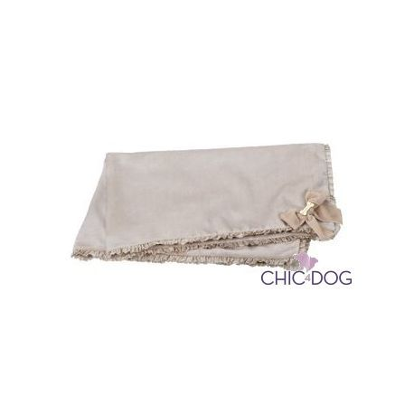 MY FAVOURITE COVER #dog #blanket - soft chenille blanket with satin trim | Morbida coperta in ciniglia con decorazioni in raso