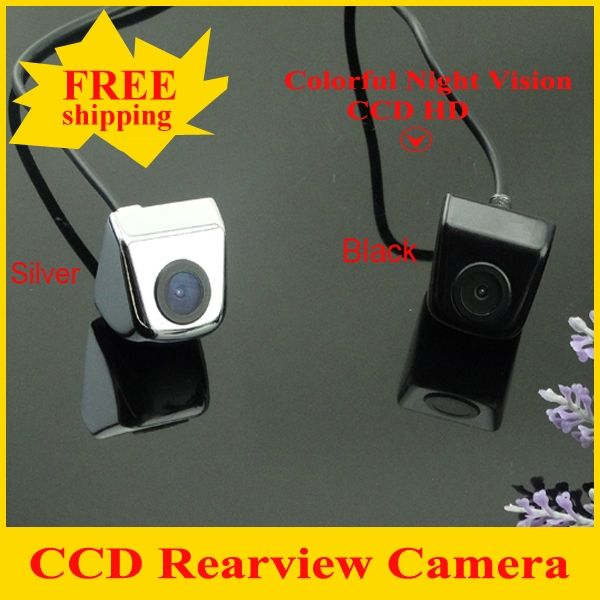 CCD Newest Car Rear View Camera Parking Camera with 100% Waterproof  Wide Angle Luxury HD CCD Car Rear  Camera Free Shipping