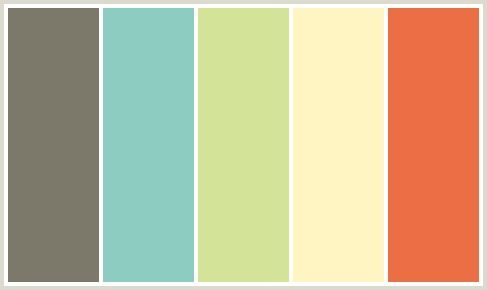 color scheme of gray, turquoise, spring green, yellow and orange