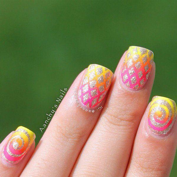 Mejores 53 imágenes de Glitter Nail Designs en Pinterest | Uñas ...