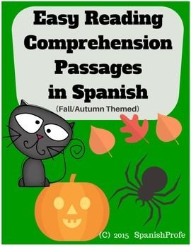 Free Easy Reading Comprehension Passages: Spanish Reading Comprehension Fall…