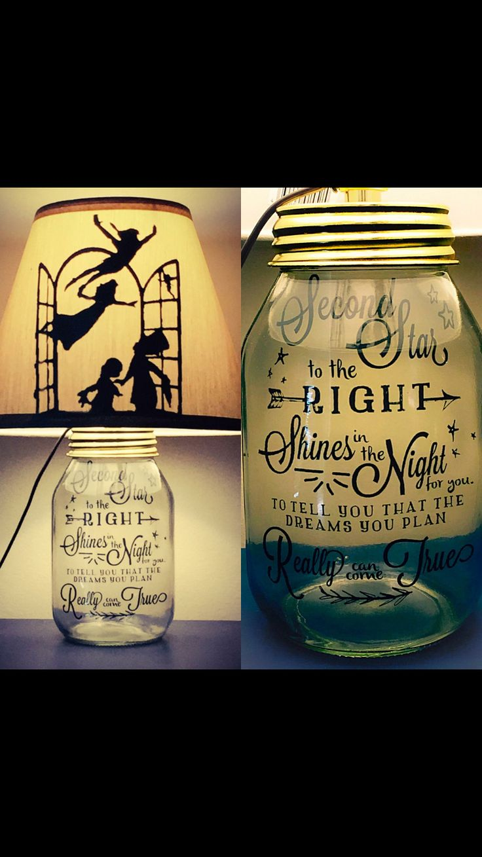Peter Pan Mason Jar Light - maybe put pixie dust in the jar?