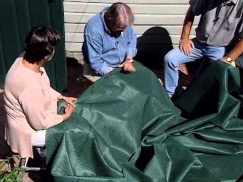 How to Build a Retractable Awning Total DIY.  Shade cloth found in the gardening section.